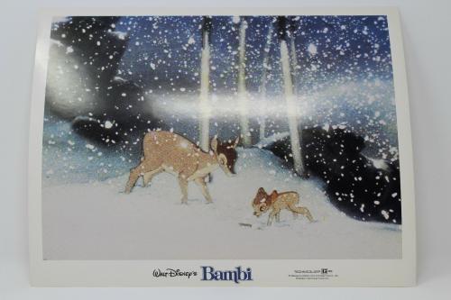Walt Disney's Bambi & Mom In Snow Lobby Card Great Condition !!!