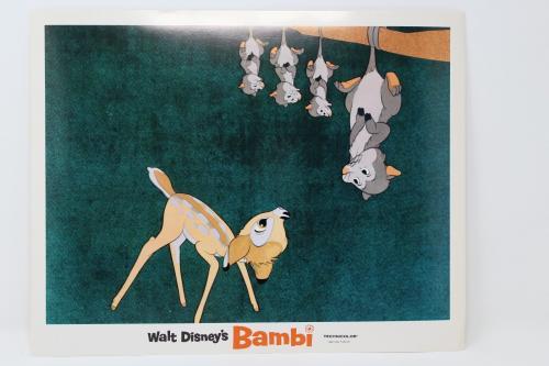 Walt Disney's Bambi With Possums Original Lobby Card Great Condition !!!