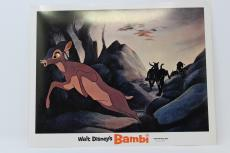 Walt Disney's Bambi's Mom Chased By Hounds Lobby Card Great Condition !!!