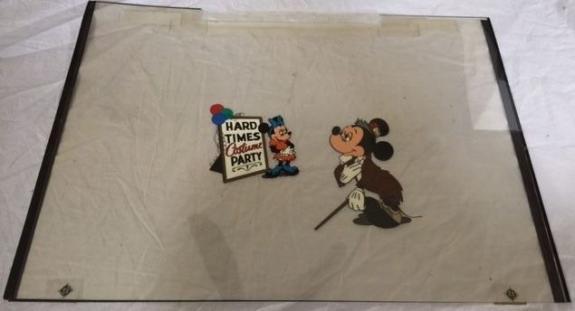 Walt Disneys Mickey's A Christmas Carol Animation Cel Lot x2 Mickey Mouse Movie
