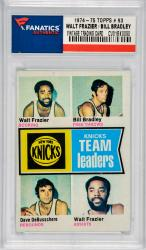 Walt Frazier / Bill Bradley / Dave DeBusschere New York Knicks 1974-75 Topps Team Leaders #93 Card