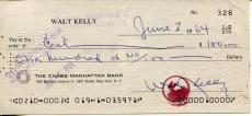 Walt Kelly Pogo Cartoonist / Walt Disney Animator Dumbo Signed Check Autograph