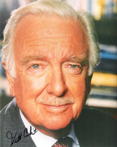 WALTER CRONKITE - ANCHORMAN for the CBS EVENING NEWS for 19 YRS. (Passed Away 2009) Signed 8x10 Color Photo
