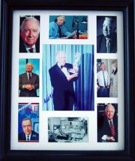 Walter Cronkite Autographed Signed Photo Display PSA DNA    AFTAL