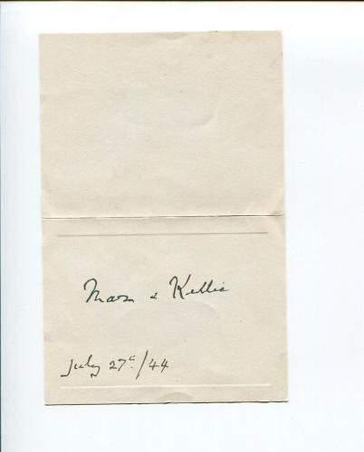 Walter Erskine 12th Earl of Mar Earl Kellie Lord Clerk Register Signed Autograph
