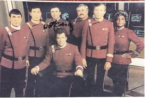 "WALTER KOENIG as PAVEL CHEKOV in ""STAR TREK"" Signed 6x4 Color Photo"