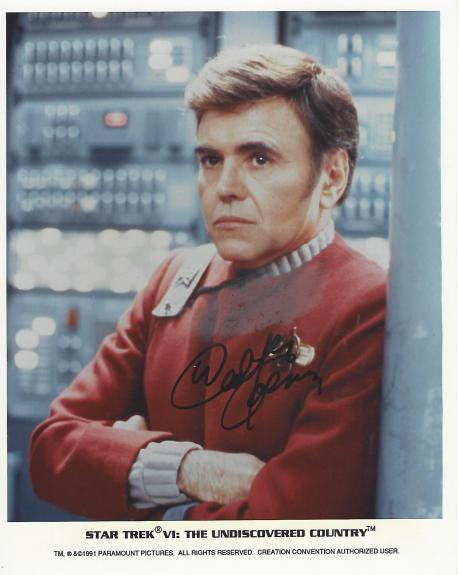 "WALTER KOENIG as PAVEL CHEKOV in ""STAR TREK"" (Some Stain On Shirt) Signed 8x10 Color Photo"