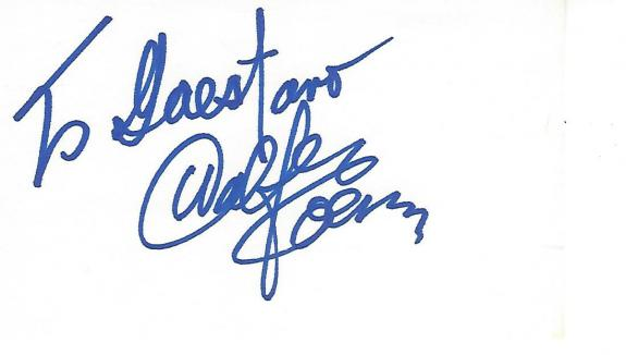 """WALTER KOENIG Best Known as PAVEL CHEKOV in """"STAR TREK"""" Inscribed to a Fan - Signed 5x3 Index Card"""