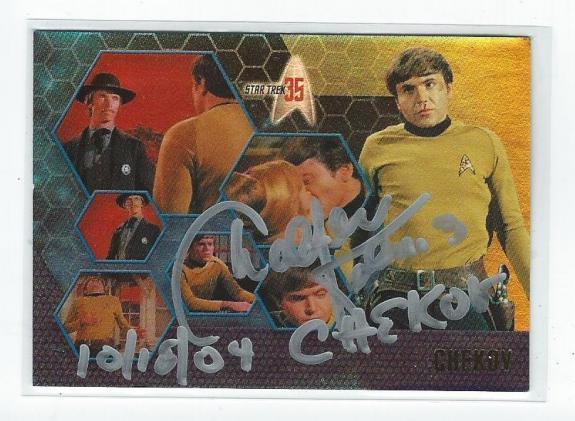 Walter Koenig Signed 2001 Star Trek 35 Mr. Chekov Card #29