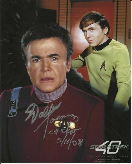 Walter Koenig Signed & Inscribed Star Trek 40th Anniversary 8x10 Photo