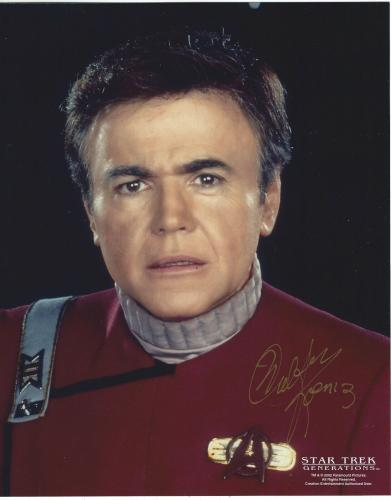 Walter Koenig Signed Star Trek Generations Pavel Chekov 8x10 Photo