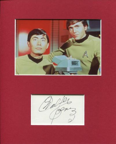 Walter Koenig Star Trek Chekov Rare Signed Autograph Photo Display With Sulu