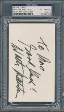 Walter Matthau Index Card PSA/DNA Certified Authentic Auto Signed *7378