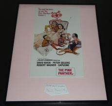 Walter Mirisch Signed Framed 16x20 Pink Panther Photo Poster Display