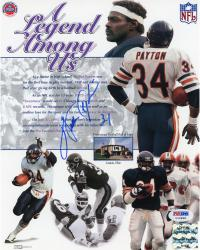 "Walter Payton Chicago Bears Autographed 8"" x 10"" Legend Photograph  (PSA/DNA)"