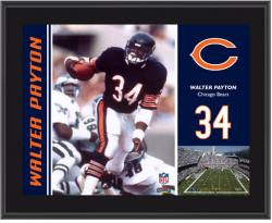 Chicago Bears Walter Payton 10.5'' x 13'' Sublimated Plaque - Mounted Memories