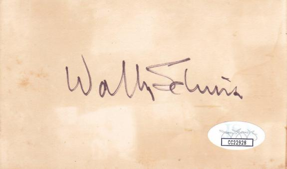 WALTER SCHIRRA d 2007 Signed 3x5 Index Card Astronaut JSA CC22928