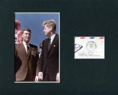 Walter Wally Schirra Apollo 7 Mercury NASA Astronaut Signed Photo Display W/ JFK