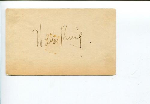 Walter Woolf King A Night at the Opera Marx Brothers Swiss Miss Signed Autograph