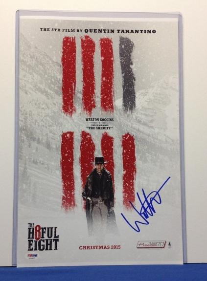 Walton Goggins Signed The H8ful Eight 11x17 Photo PSA Cert# AA54417