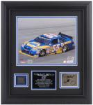 """Michael Waltrip Framed 8"""" x 10"""" Photograph with Autographed Plate and Tire-Limited Edition of 155"""