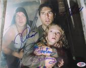 War of the Worlds Cast Signed 8x10 Photo Tom Cruise/Fanning/Robbins (PSA/DNA)