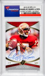 Charlie Ward Florida State Seminoles Autographed 2013 Upper Deck SPX #31 Card with 93 Heisman Inscription