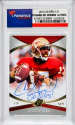 Charlie Ward Florida State Seminoles Autographed 2013 Upper Deck SPX #31 Card with Go Noles Inscription