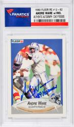 "WARE, ANDRE AUTO ""89 HEISMAN (1990 FLEER RC # U-92) CARD - Mounted Memories"