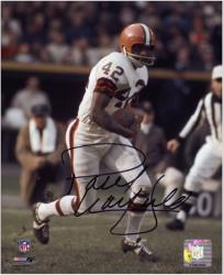 Paul Warfield Cleveland Browns Autographed 8'' x 10'' Run With Ball Photograph - Mounted Memories
