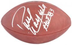 "Paul Warfield Autographed Pro Football with ""HOF 1983"" Inscription"