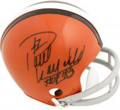 Paul Warfield Cleveland Browns Autographed Riddell Mini Helmet with HOF 83 Inscription - Mounted Memories