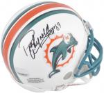 Miami Dolphins Paul Warfield Signed Mini Helmet - Mounted Memories