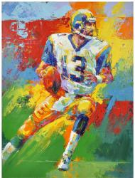Kurt Warner St. Louis Rams Side View Original Artwork with Malcolm Farley Signature