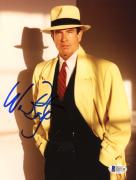 "Warren Beatty Autographed 8""x 10"" Dick Tracy Wearing Yellow Coat Photograph - Beckett COA"