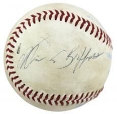Warren Buffett Signed GU Omaha Royals Rawlings Baseball PSA #AB10758