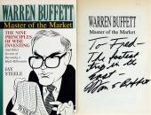 Warren Buffett Signed Master Of The Market Paperback Book JSA #Z34638