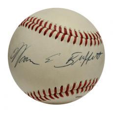 Warren Buffett Single Signed Baseball. PSA