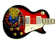 Warren Haynes Autographed Allman Brothers Airbrush Guitar ACOA AFTAL