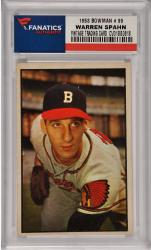 Warren Spahn Milwaukee Braves 1953 Bowman #99 Card
