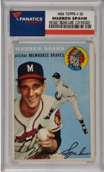 Warren Spahn Milwaukee Braves 1954 Topps #20 Card