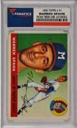 Warren Spahn Milwaukee Braves 1955 Topps #31 Card