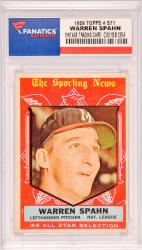 Warren Spahn Milwaukee Braves 1959 Topps #571 Card