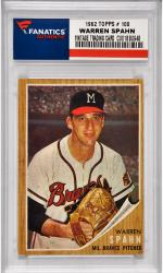 Warren Spahn Milwaukee Braves 1962 Topps #100 Card