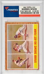 Warren Spahn Milwaukee Braves 1962 Topps #312 Card