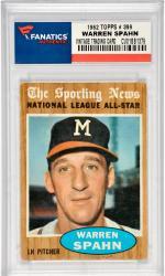 Warren Spahn Milwaukee Braves 1962 Topps #399 Card