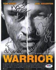 WARRIOR Cast Signed Autographed 8x10 Photo Hardy/Edgerton/Grillo + 6 (PSA/DNA)