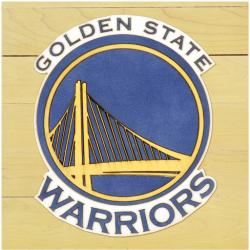 "NBA Golden State Warriors 12"" x 12"" Logo Floor Piece"