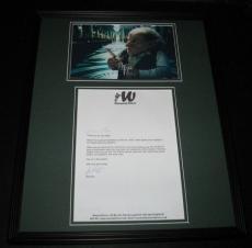 Warwick Davis Signed Framed Letter & Photo Display 16x20 Harry Potter