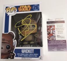 WARWICK DAVIS signed Funko POP Vinyl Figure WICKET EWOK Star Wars POP! JSA